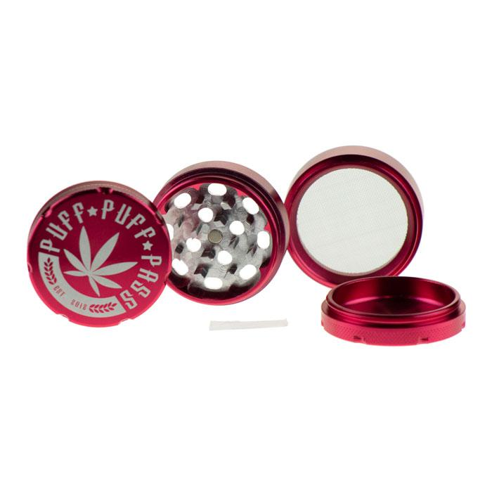 "PPP 2"" 3-Piece Grinder (Red)"