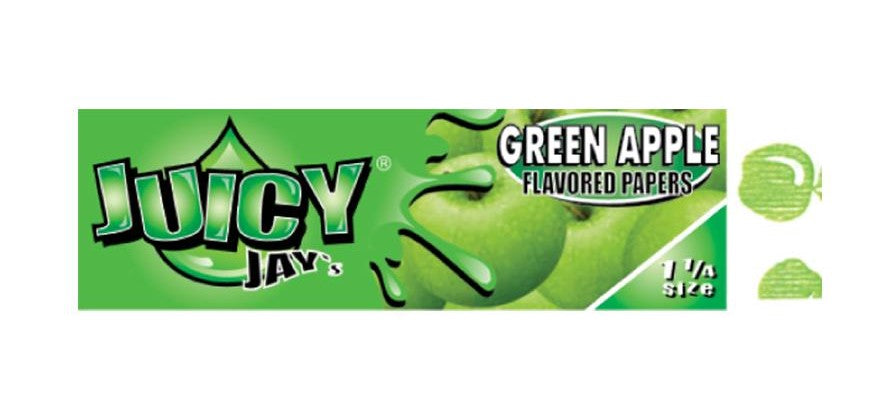 "JJ 1.25"" Green Apple Rolling Papers (individual pack)"