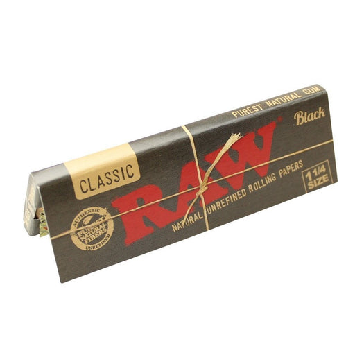 "RAW Black 1.25"" Rolling Papers"