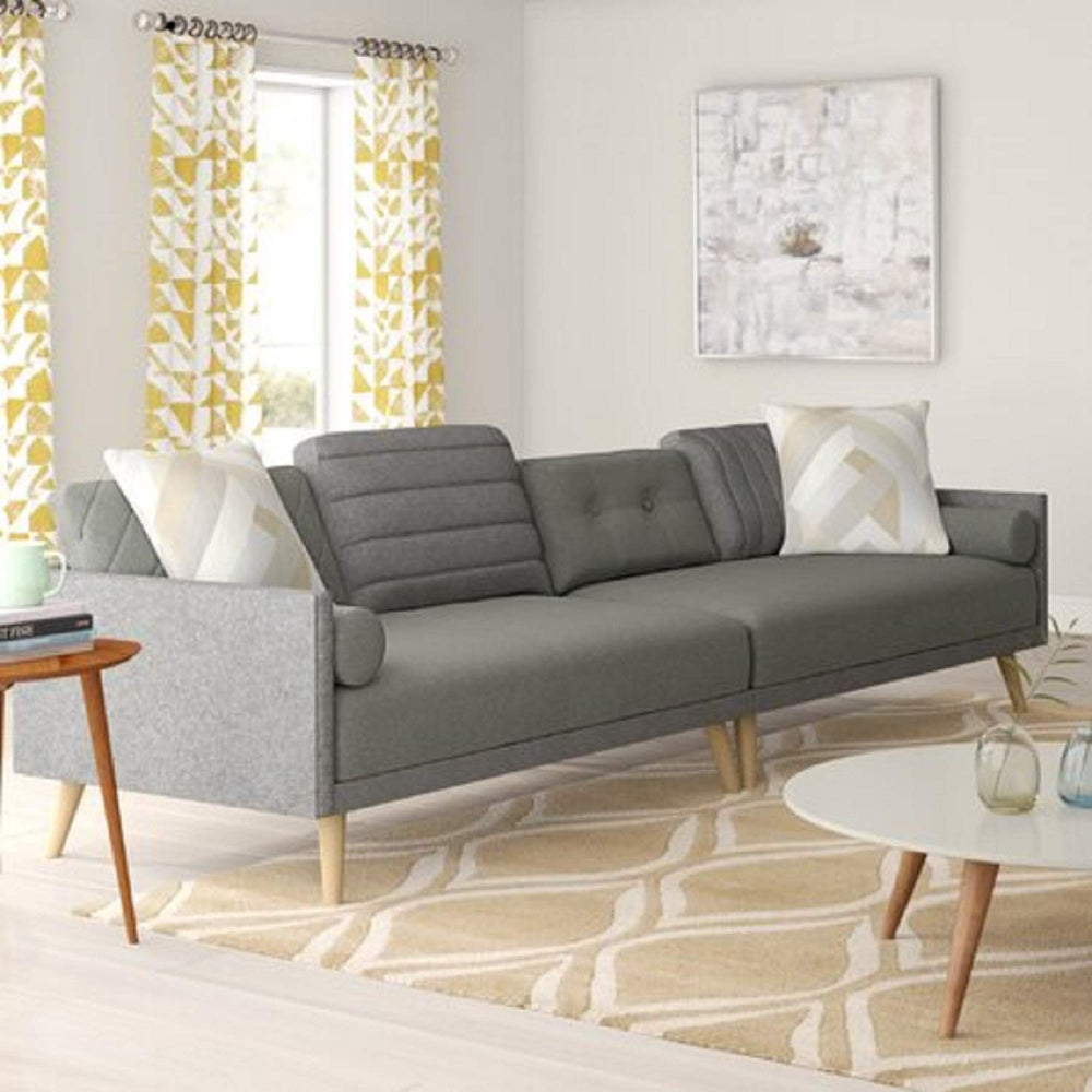 Designer Sofa Set:- Regal 5 Seater Fabric Sofa Set (Grey)