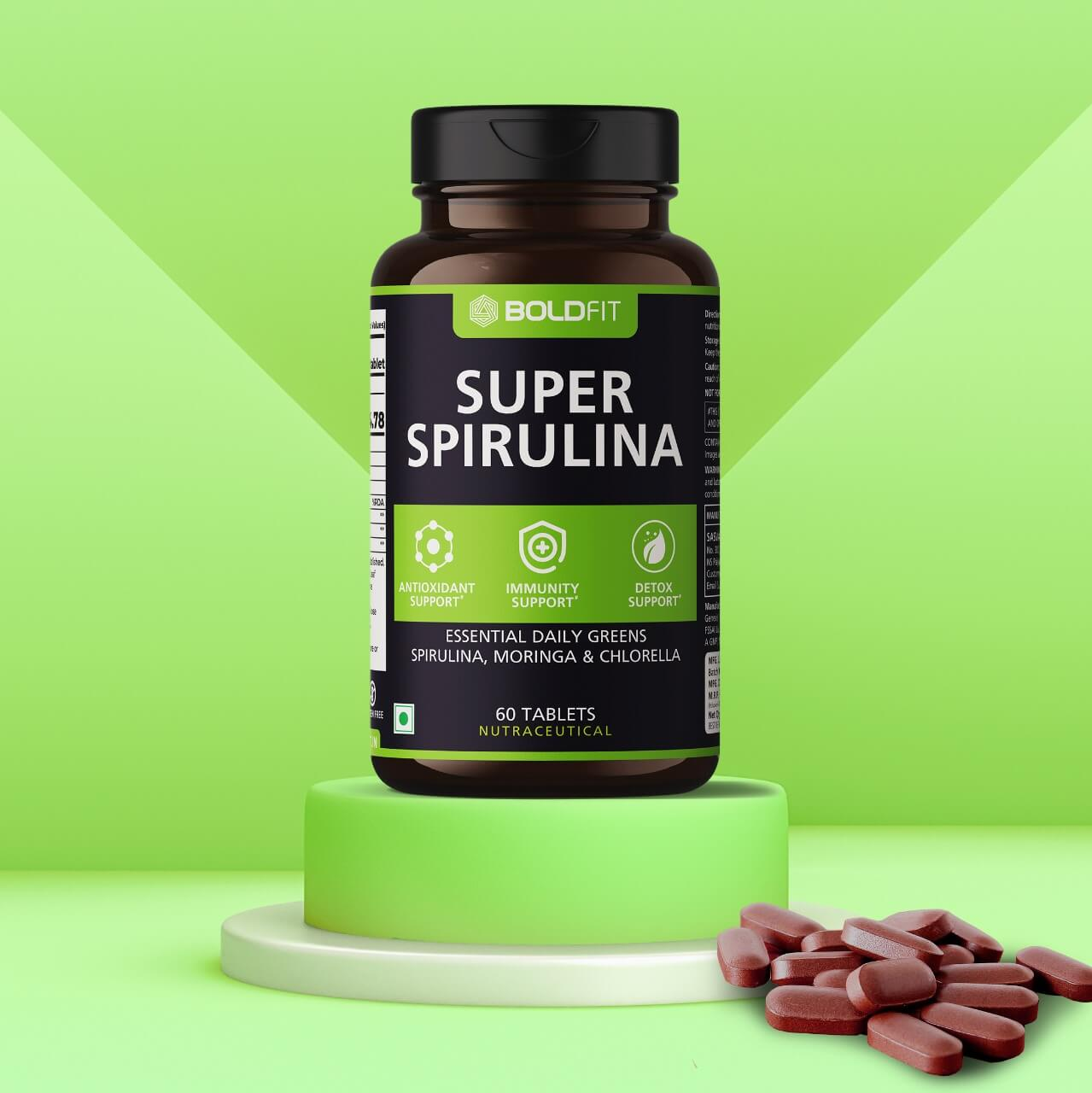 Boldfit Spirulina 500 Mg Supplement