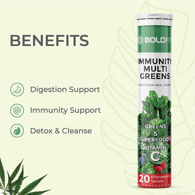 Boldfit Immunity Multi Greens Effervescent Tablets