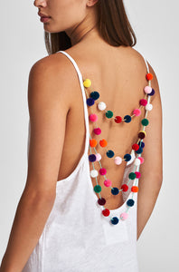 Mini Pom Pom Necklace Dress