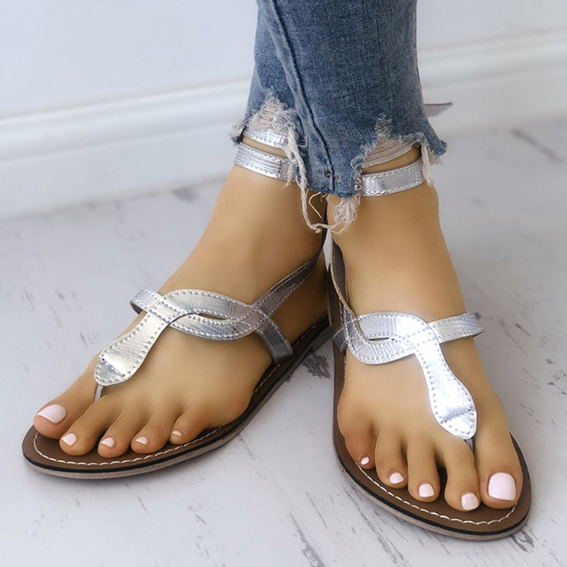 Women Pu Sandals Casual Daily  Sparkling Glitter Shoes