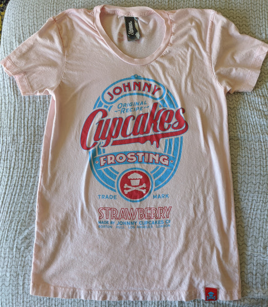 Women's XL - Strawberry Frosting Tee & Frosting Can Johnny Cupcakes