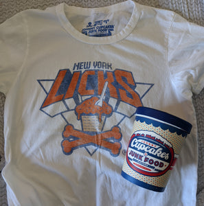 Women's XL - New York Licks Tee and Container - Junk Food x Johnny Cupcakes