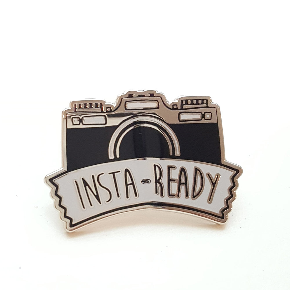 Insta Ready Enamel Pin