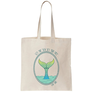 Mermaid Tail Canvas Tote