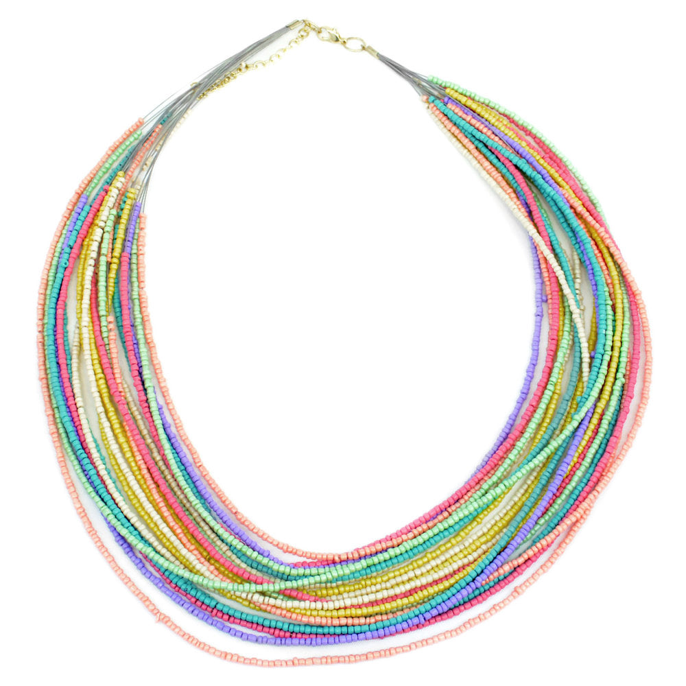 Multicolor Beaded Wire Necklace