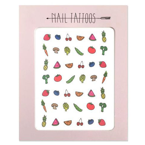 Fruit and Veggie Nail Tattoo Pack