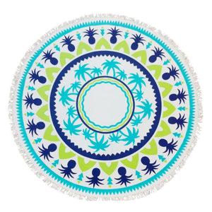 "Pineapples & Palms 60"" Round Towel"