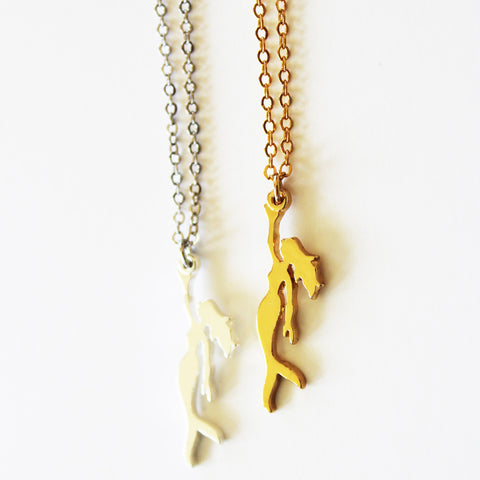 Mermaid Necklace - Gold or Silver