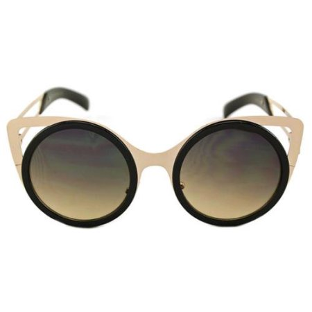 Round Cateye Sunglasses (White or Black)