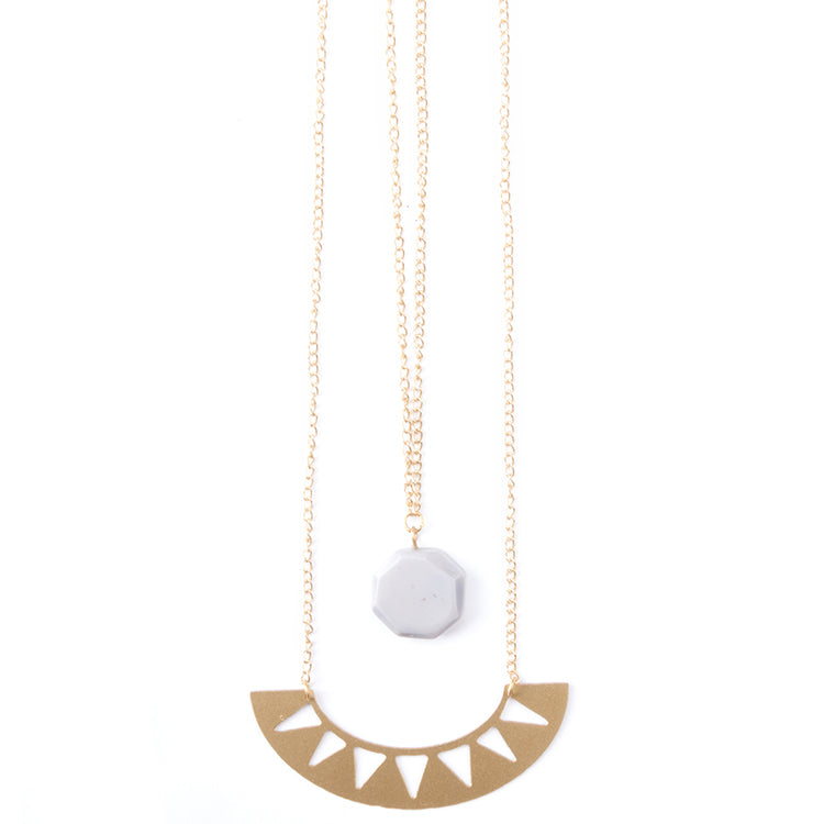 Tide and Moon Double Necklace