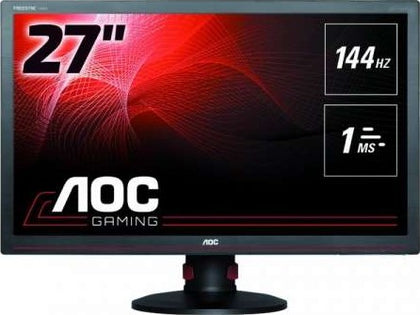 AOC 27 Inch 1ms Black FreeSync Professional 144Hz Gaming LEDMonitor, 1920 x 1080, 50000000:1, 300cd/m2, 16:9, HDMI, VGA, USB, DVI D, Display Port, Tilt, Swivel, Height Adjustment, Built in Speaker | G - tharmart.com
