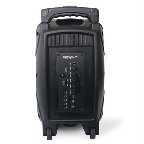 TOUCHMATE TM-SP2300T Karaoke Party Trolley Speaker  with Wireless Mic, USB, SD, FM, LED & Bluetooth - tharmart.com