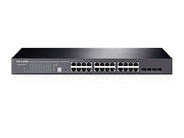 Tp Link JetStream 24-Port Gigabit Stackable Smart Switch with 4 10GE SFP+ Slots T1700G-28TQ - tharmart.com