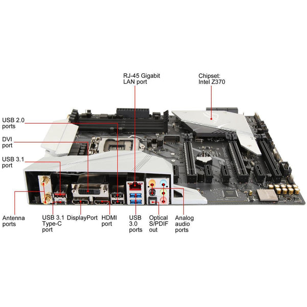 ASUS ROG Strix Z370-E Gaming LGA 1151 (300 Series) Intel Z370 HDMI SATA 6Gb/s USB 3.1 ATX Intel Motherboard - tharmart.com