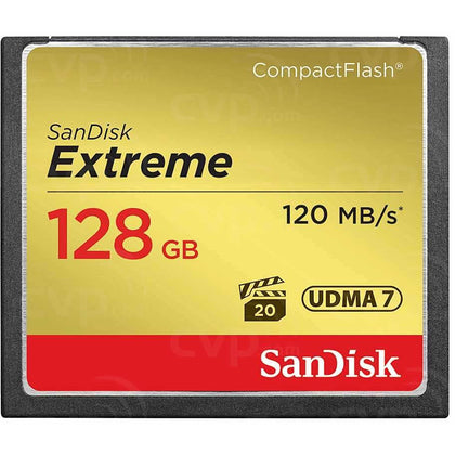 Sandisk Compact Flash 128GB Extreme Compact Flash Card 120 85MB - tharmart.com