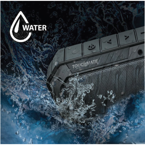 TOUCHMATE  TM-BTS900W TOUCHMATE Waterproof Bluetooth Speaker, Shockproof & Rugged, Rechargeable With Built in MIC. - tharmart.com