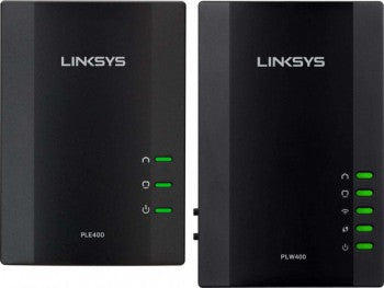 Linksys Powerline Wired and Wireless Network Expansion Kit | PLWK400 - tharmart.com