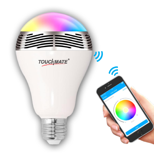TOUCHMATE TM-SP20B Bluetooth Smart Speaker With Bulb      Wireless Music & Light Color Change App   Share - tharmart.com