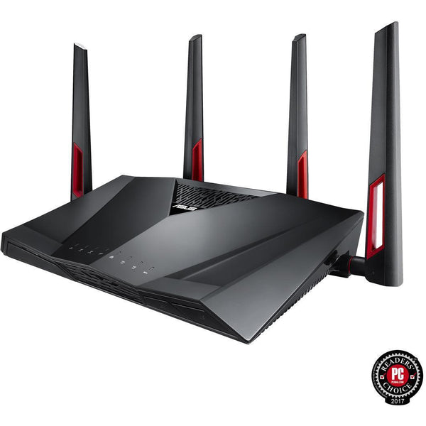 ASUS AC3100 Wi-Fi Dual-band Gigabit Wireless Router with 4x4 MU-MIMO, 8 x LAN Ports, AiProtection Network Security and WTFast Game Accelerator, AiMesh Whole Home Wi-Fi System Compatible (RT-AC88U) - tharmart.com