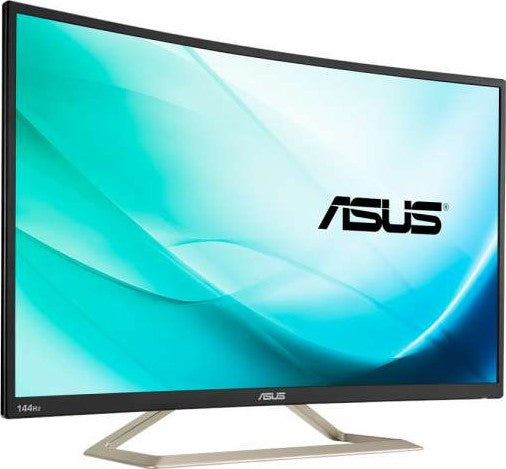 "ASUS VA326H Curved Gaming Monitor 31.5"" FHD (1920x1080), 144Hz, Flicker free, Low Blue Light 