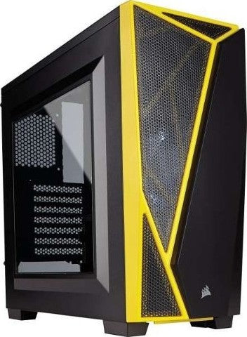 Corsair Black/Yellow Theme Gaming PC Intel Core i5-8600K 16GB (2 x 8GB) 3200MHz 500GB NVMe M.2 2TB HDD 7200 RPM GTX 1070 Ti 8GB 256-Bit 850 Watt 80 PLUS Gold PSU Fully Modular - tharmart.com