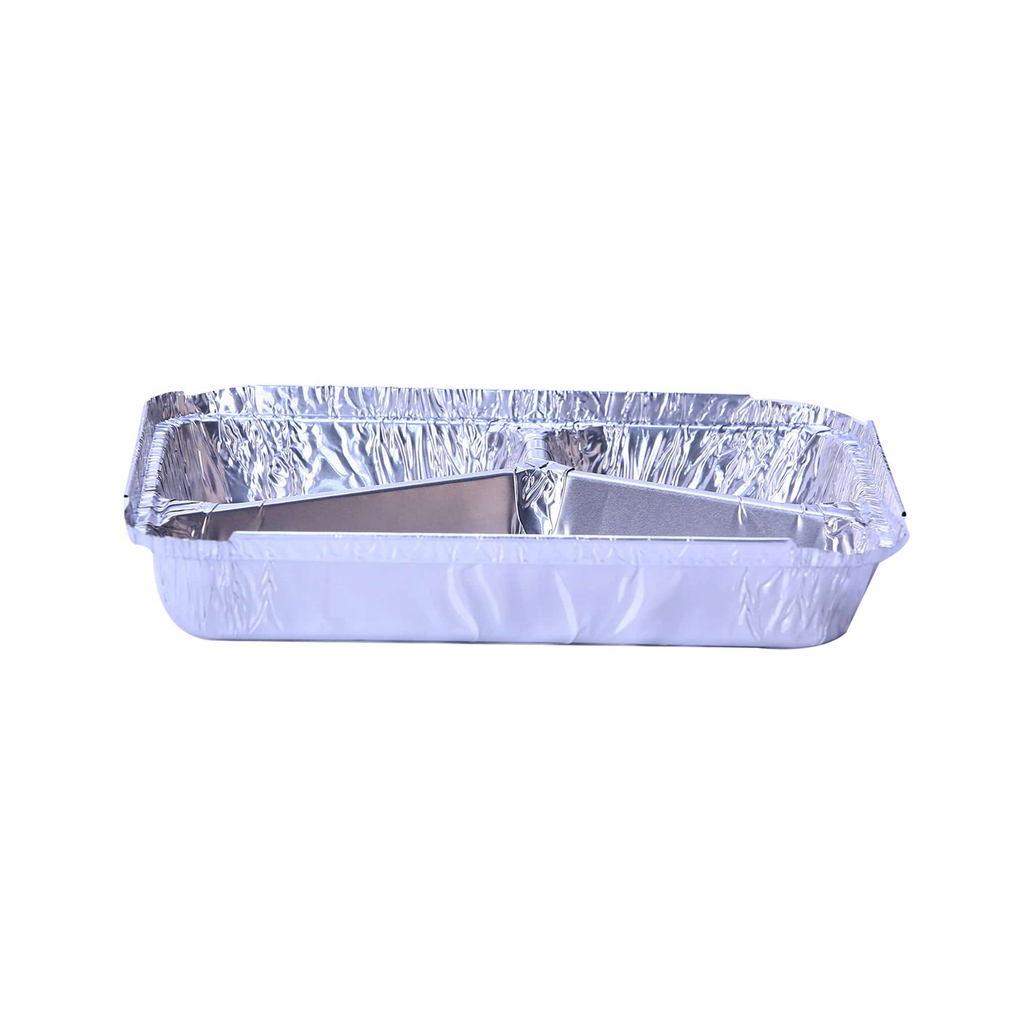Hotpack | Aluminium Container 3 Compartment Base Only 225x177x30mm | 500 Pieces