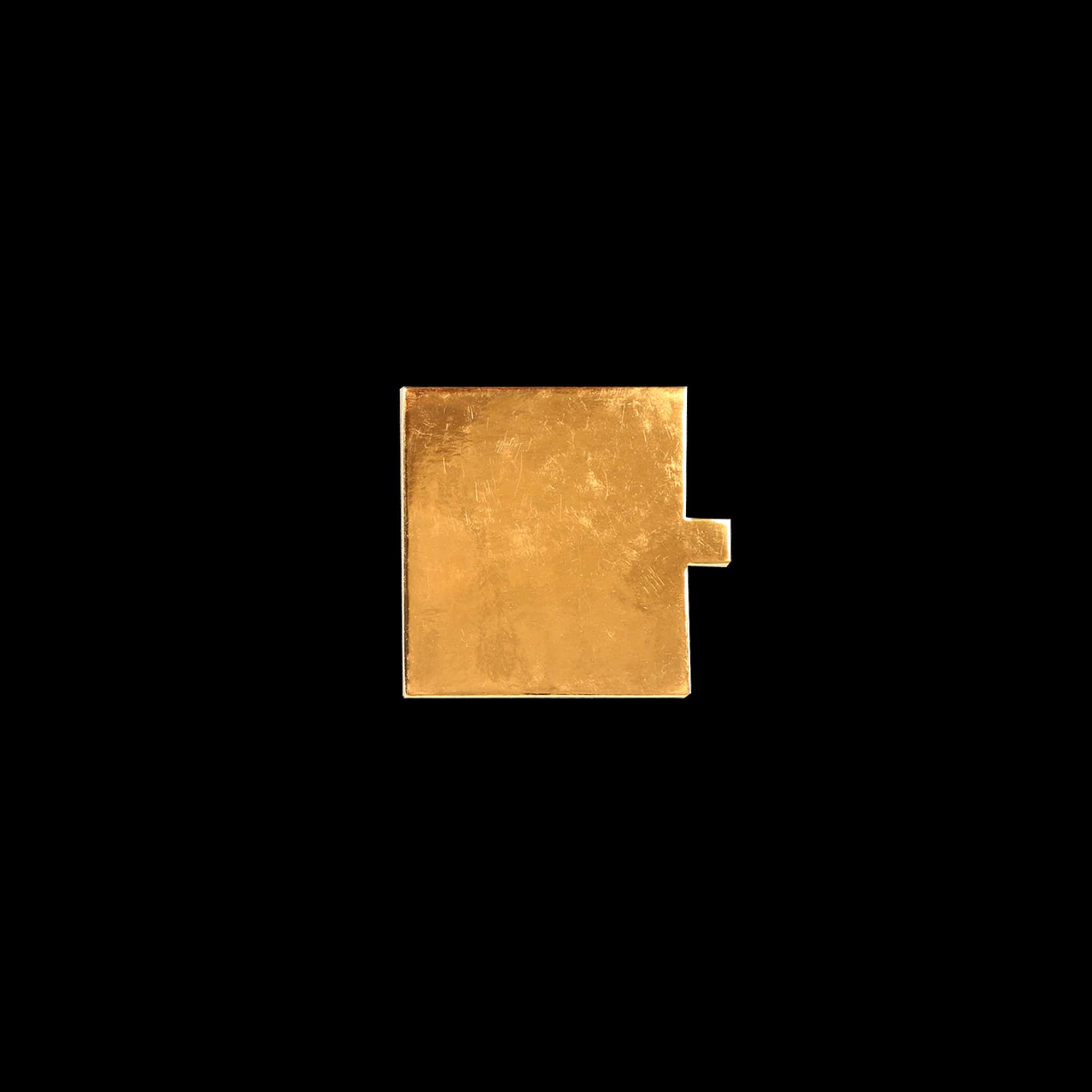 Hotpack | SQUARE CAKE BOARD GOLD  FOR SINGLE CAKE PIECE 12 CM | 100 Pieces