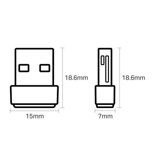 Tp Link AC600 Nano Wireless USB Adapter Archer T2U Nano - tharmart.com