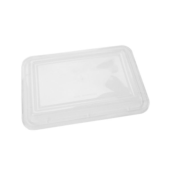 Hotpack | Black Base Rectangular Container 32 oz Lids Only | 300 Pieces