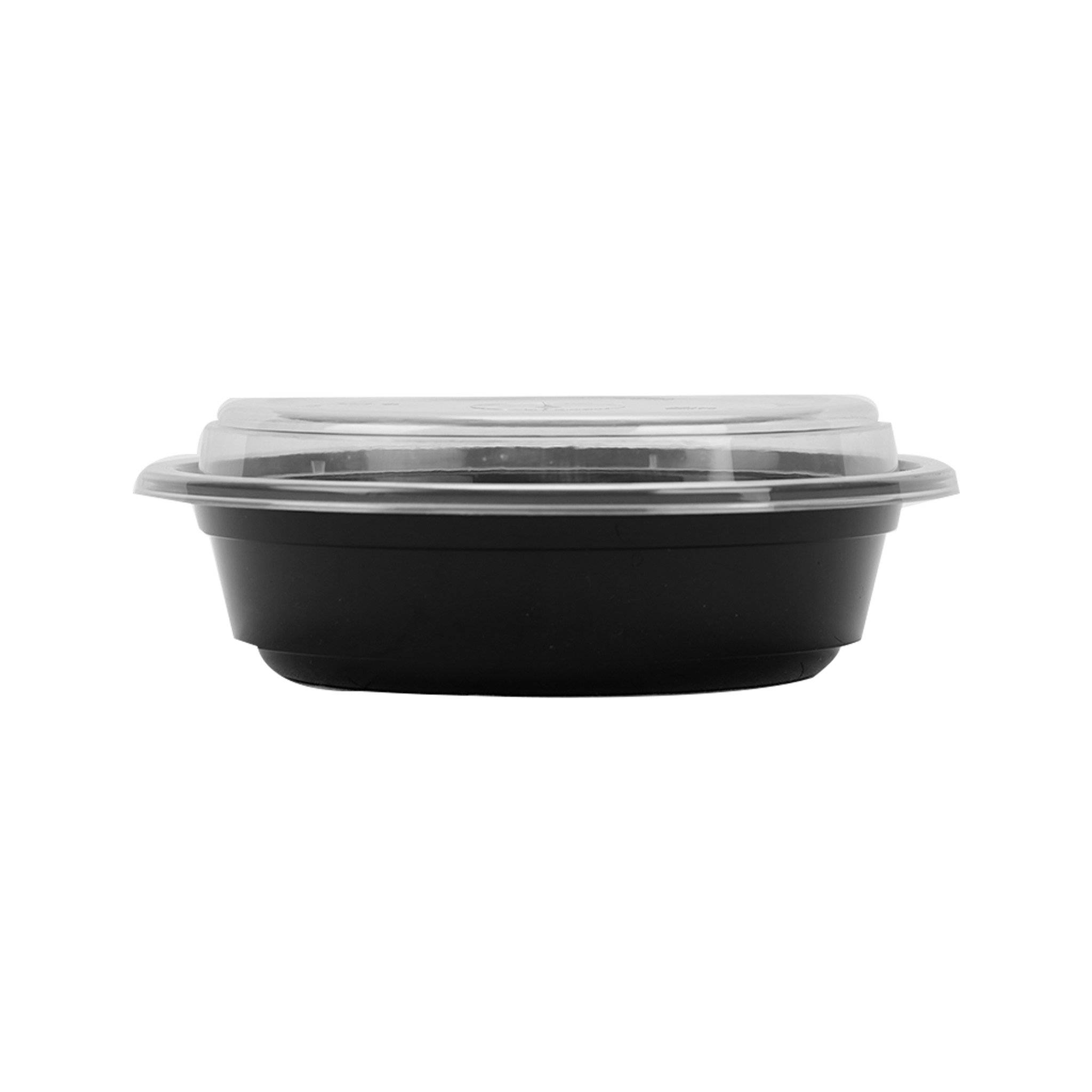 Hotpack | Black Base Round Container 16 oz Base Only | 300 Pieces