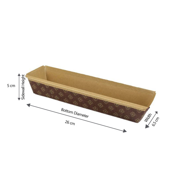 Hotpack |Baking Mold Rectangle 26x6.5x5 cm |1000 Pieces