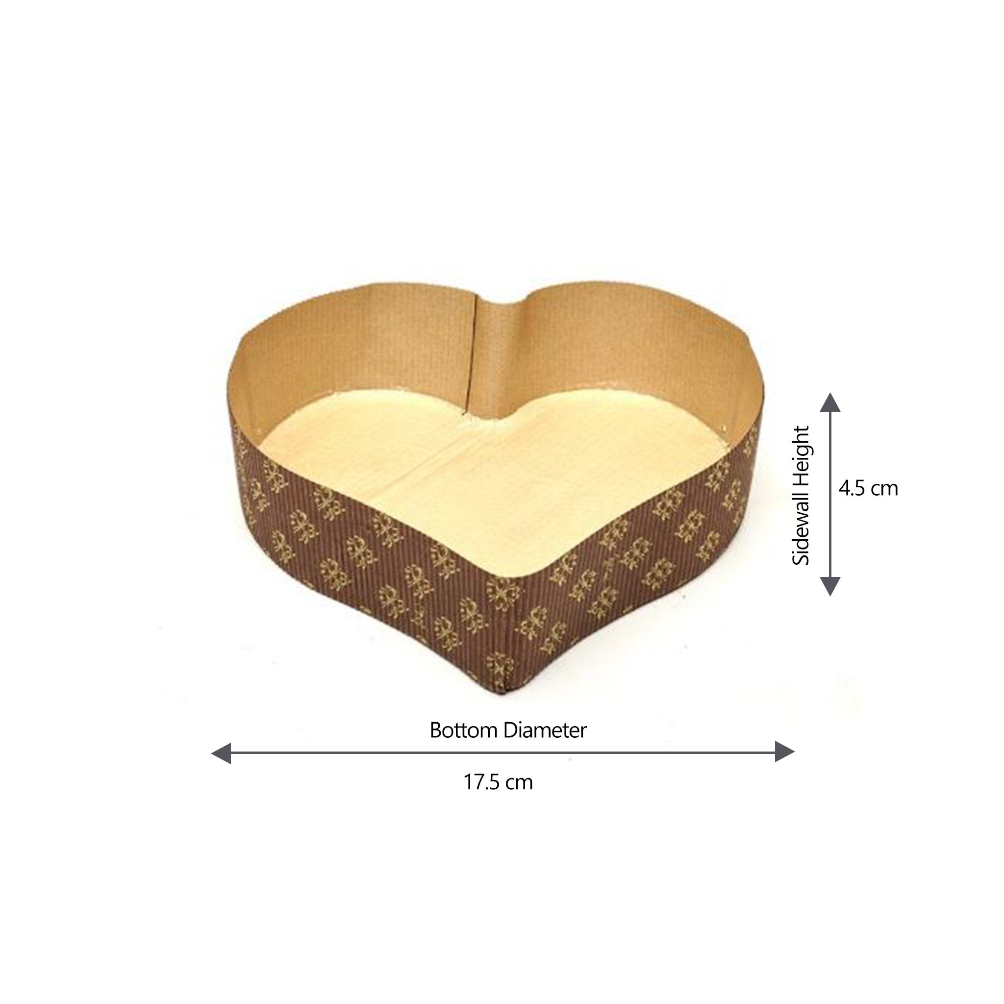 Hotpack |Baking Mold Heart Shape 17.5x4.5 cm |600 Pieces