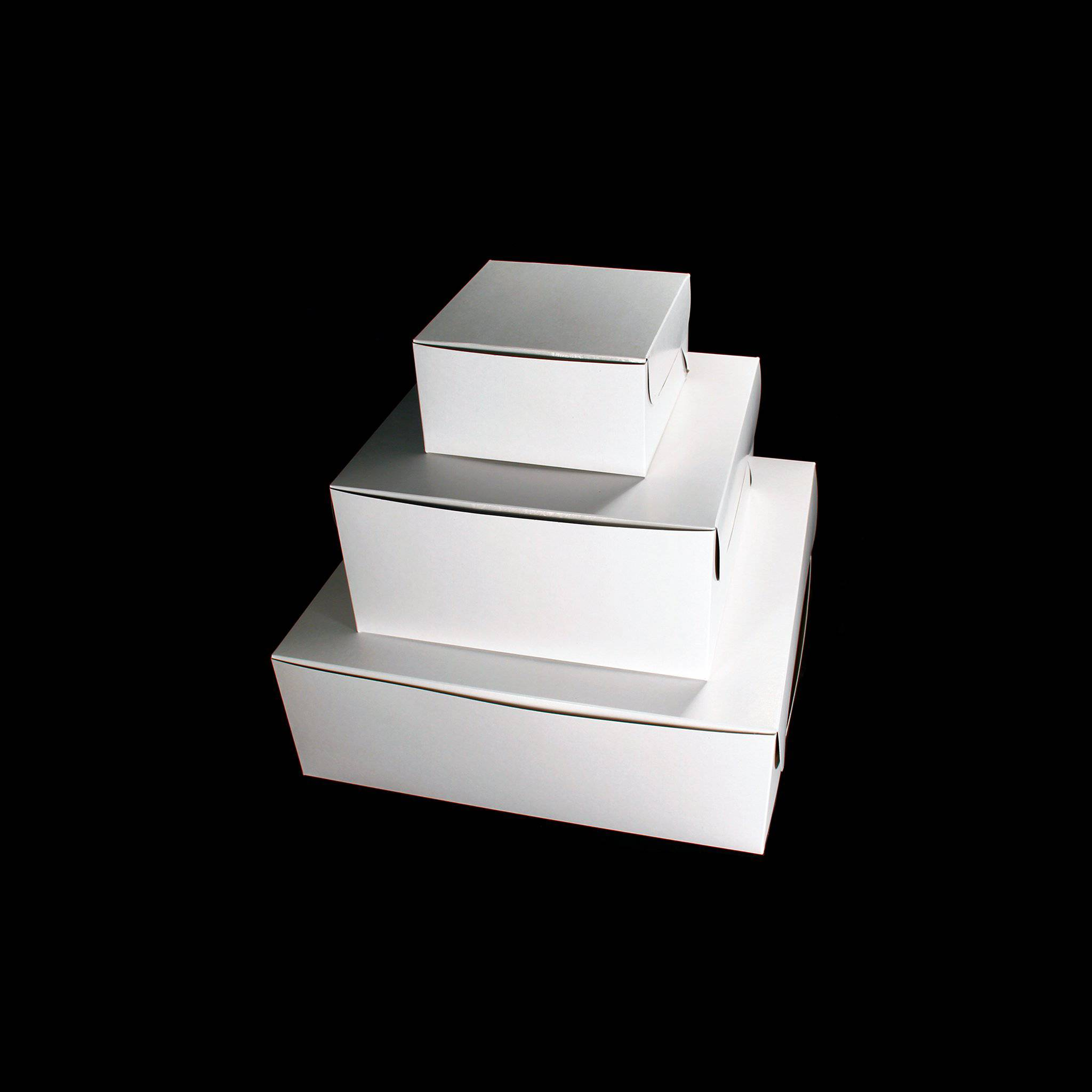 Hotpack | 15x15 CM WHITE CAKE BOX  | 100 Pieces