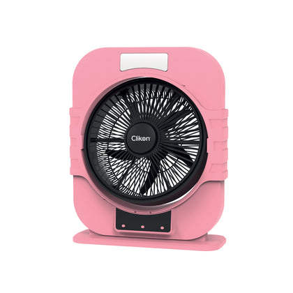 CLICKON - 12 INCH MINI TABLE FAN WITH LED LAMP - CK2226