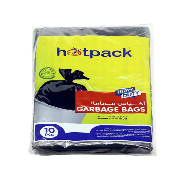 Hotpack | HEAVY DUTY GARBAGE BAG 55 GALLON 80 x 110 CM LARGE | 10 Pieces x 30 Pkts