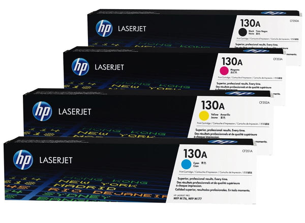 HP 130A Black Original LaserJet Toner Cartridge, CF350A - tharmart.com
