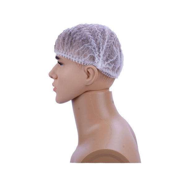 Hotpack | Hair Net (Bouffant) White Color  | 100 Pieces X 10 Packts