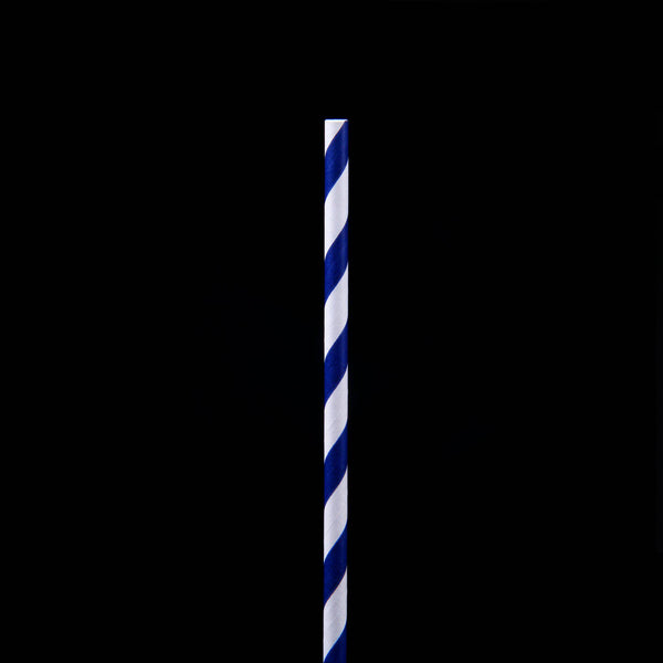 Hotpack | 6 mm PAPER STRAW DARK BLUE | 5000 Pieces