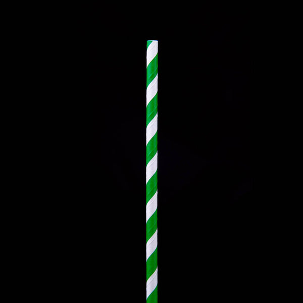 Hotpack | 6 mm PAPER STRAW GREEN | 5000 Pieces