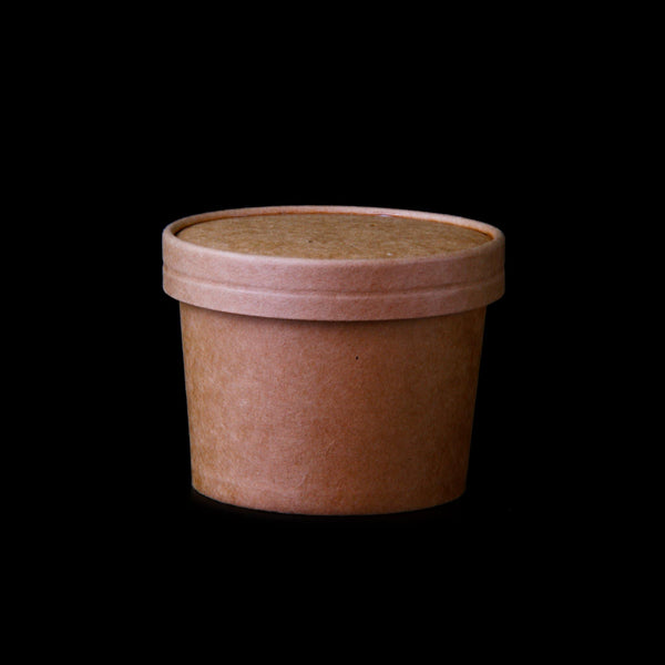 Hotpack | 12 Oz KRAFT PAPER NOODLE BOWL WITH LID | 250 Pieces