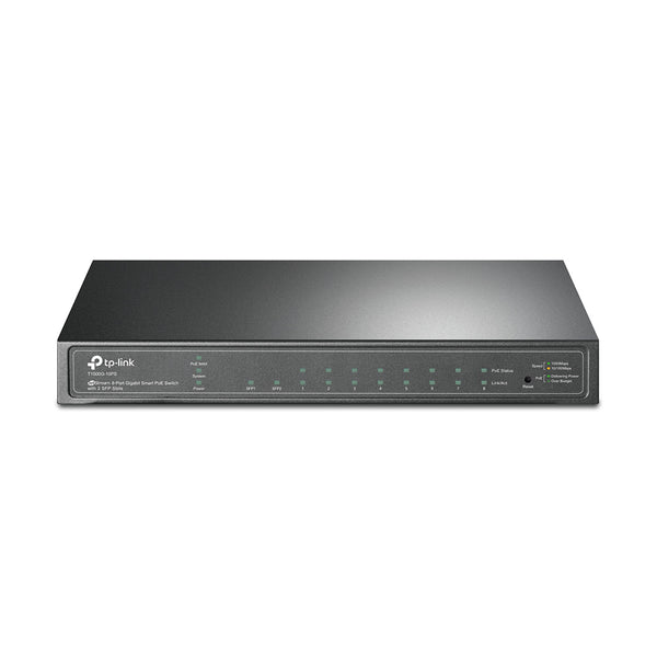 Tp Link JetStream 8-Port Gigabit Smart PoE Switch with 2 SFP Slots T1500G-10PS (TL-SG2210P) - tharmart.com