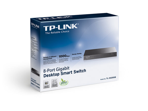 Tp Link 8-Port Gigabit Smart Switch TL-SG2008 - tharmart.com