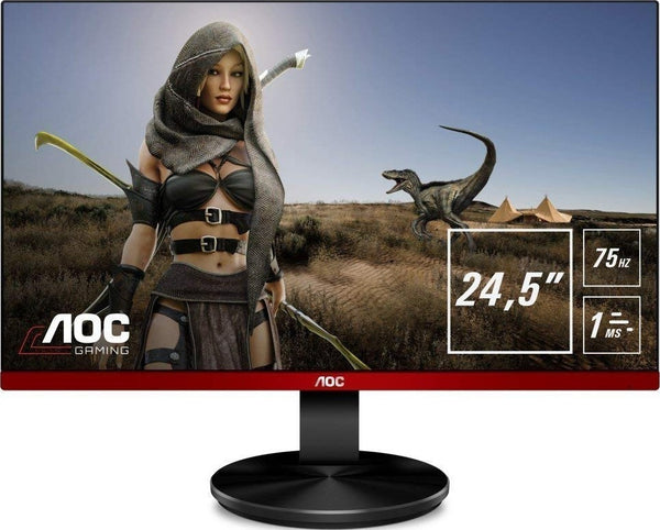 AOC G2590VXQ 24.5 inch Widescreen TN LED Multimedia Monitor (Black/Red)  (1920 x 1080, 1ms, VGA, HDMI, DisplayPort) | G2590VXQ - tharmart.com