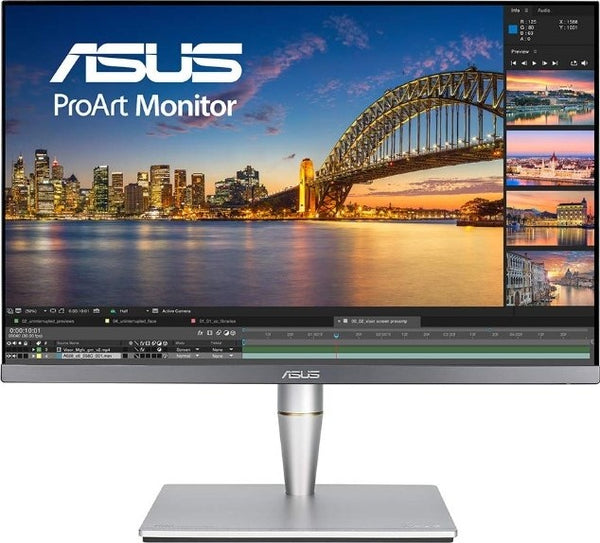 ASUS ProArt PA24AC 24.1 inch Monitor, 1920x1200 Resolution, Built in Stereo Speakers, Signal Input HDMI(v2.0a) x2, DisplayPort 1.2, USB Type C, DisplayHDR 400, Black | PA24AC - tharmart.com