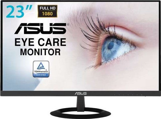 ASUS VZ239HE W Eye Care Monitor  23 inch, Full HD, IPS, Ultra slim, Frameless, Flicker Free, Blue Light Filter | VZ239HE W - tharmart.com