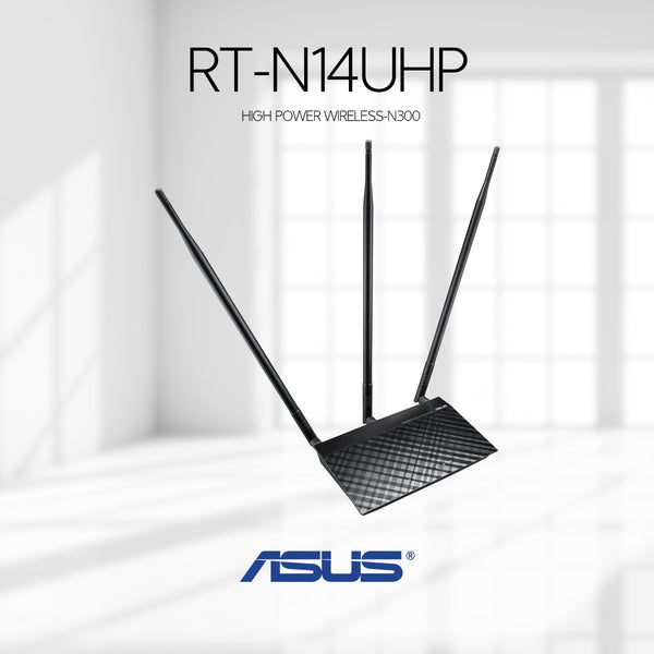 ASUS High Power Router / AP / Range Extender Wireless-N300 | RT-N14UHP - tharmart.com